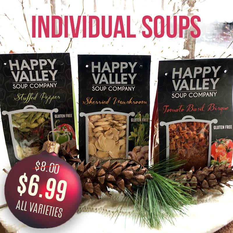 Individual Soups Sale $6.99