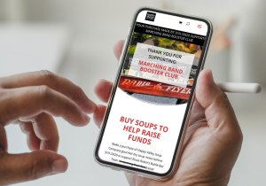 Marching Band Fundraiser on Mobile Device