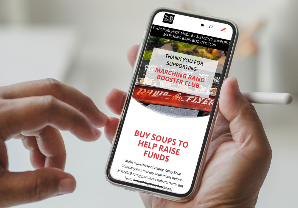 Mobile Phone on Happy Valley Band Boosters Fundraising Page