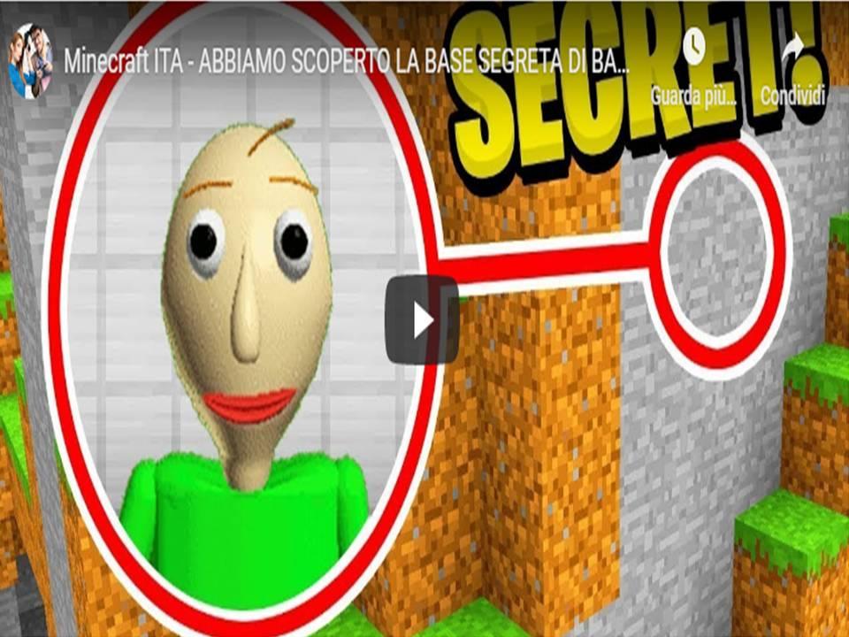 Minecraft ITA – ABBIAMO SCOPERTO LA BASE SEGRETA DI BALDI!!