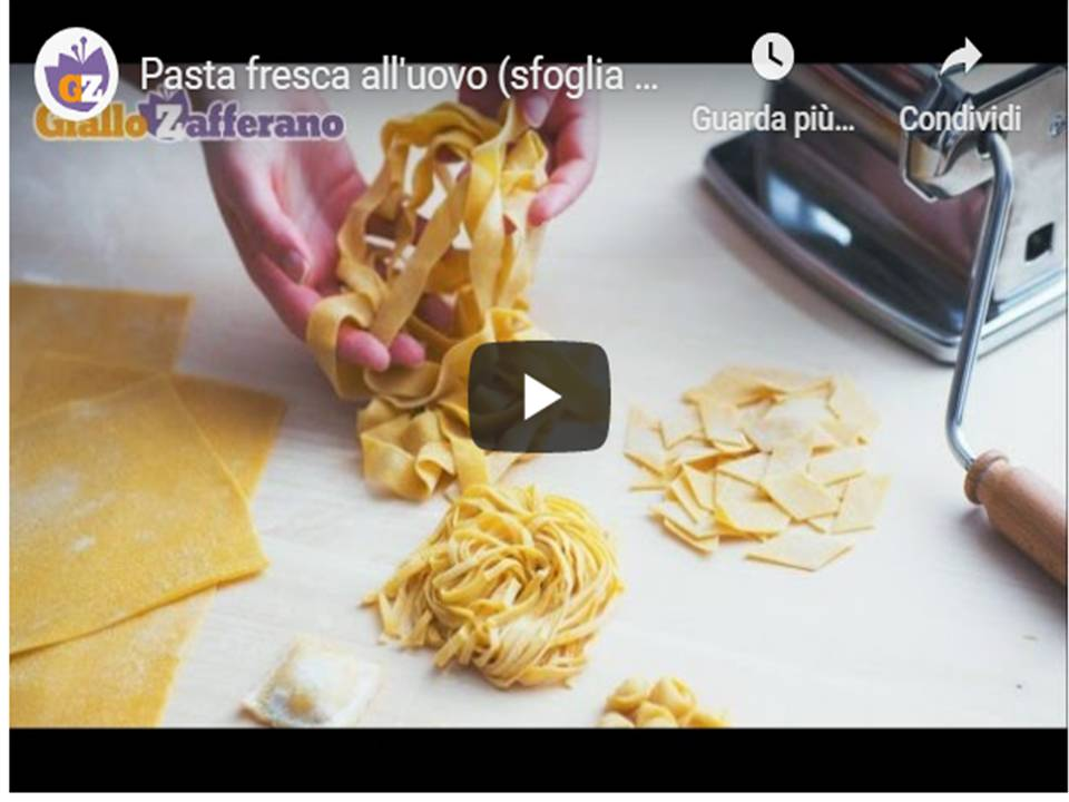 Pasta fresca all'uovo, la ricetta di Giallozafferano
