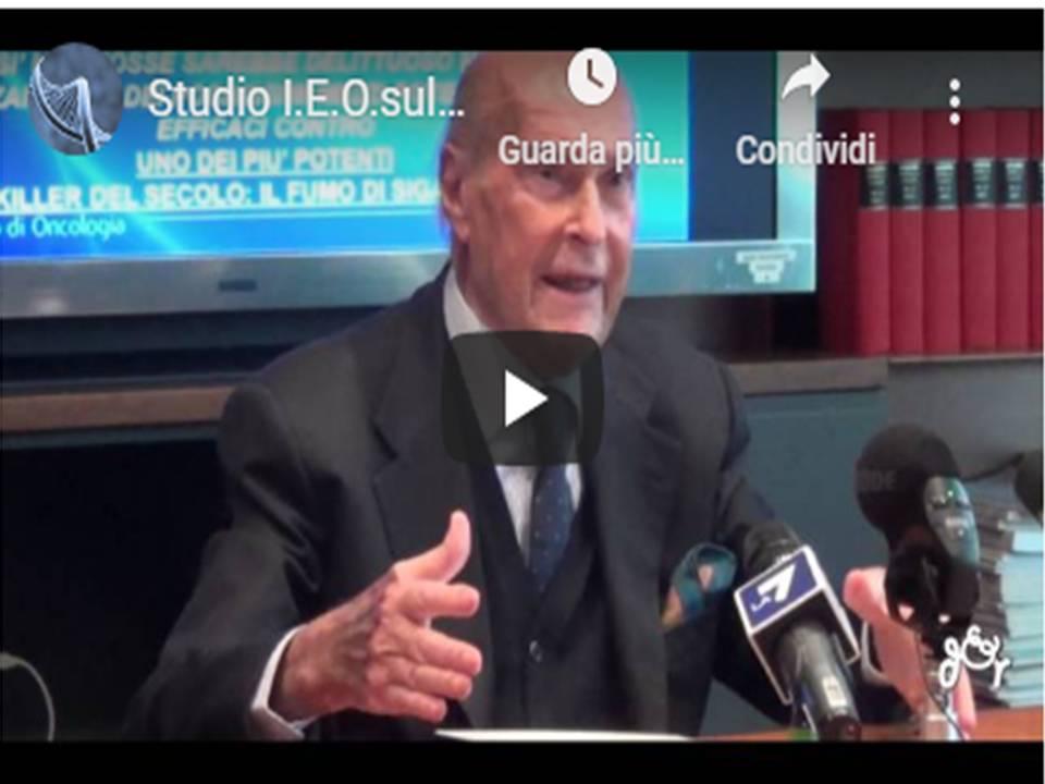 Prof: Veronesi, Dott. Cipolla – Studio I.E.O.sulla Sigaretta Elettronica