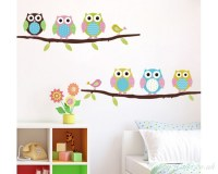 Cute Owl Wall Sticker Tree Stickers With Owls