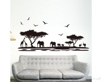 Safari Wall Sticker Tree Wall Stickers With Giraffe ...