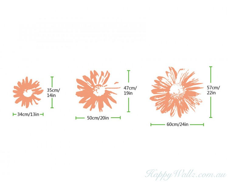 chrysanthemum flower decals modern wall art