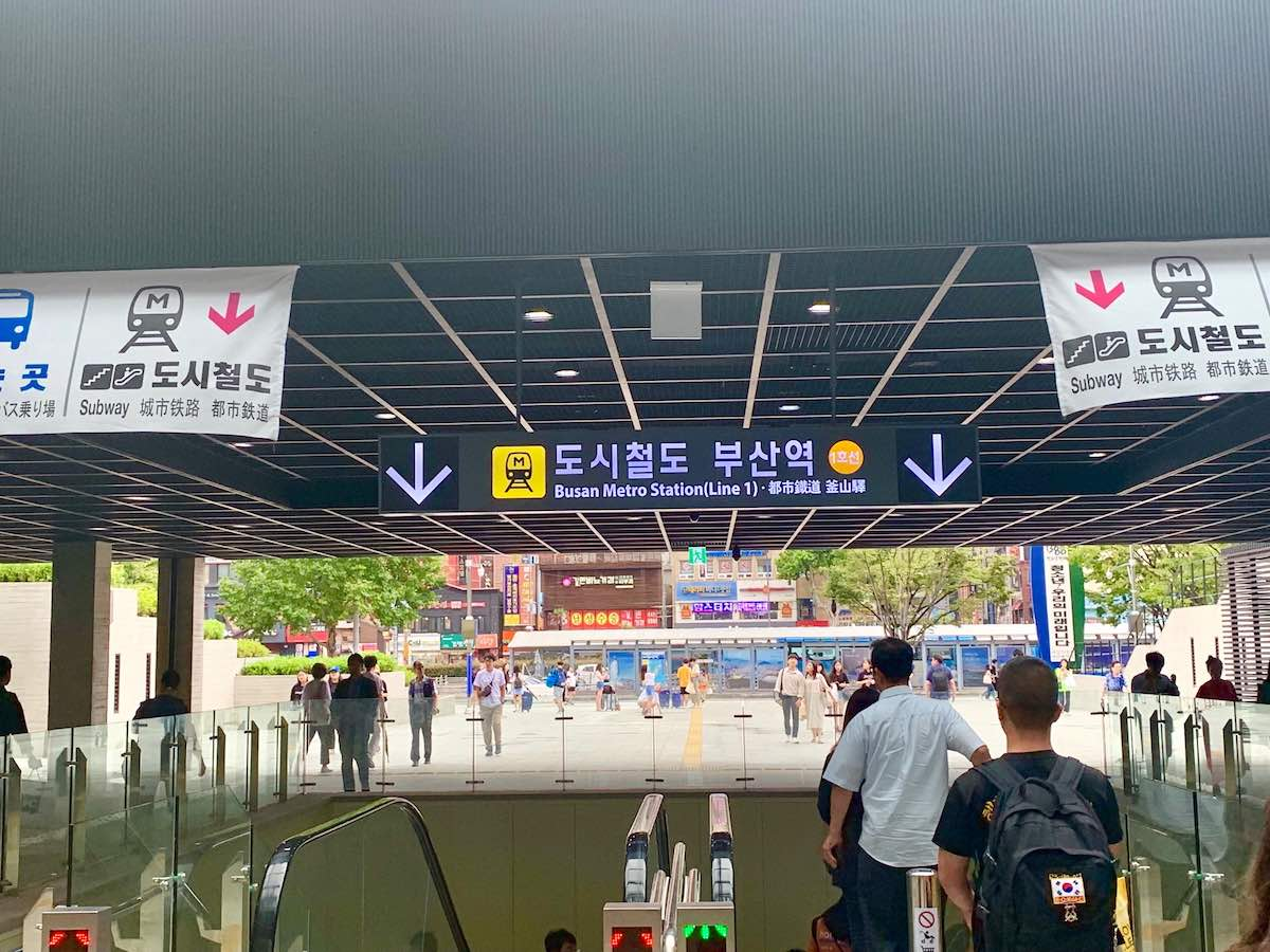 Man Arrested for Attacking Two Female Tourists at Busan Station Underground Mall