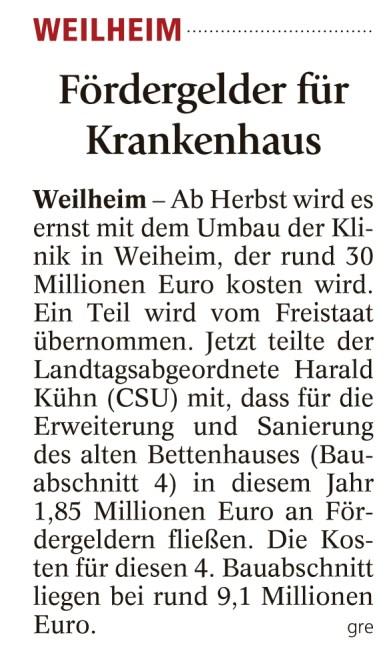 Weilheimer Tagblatt, 3.06.2016