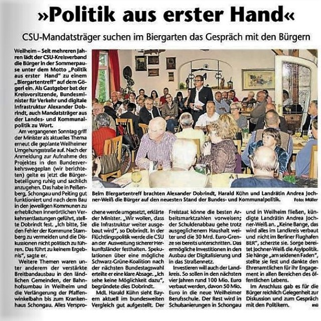 Kreisbote Weilheim 24.08.2016