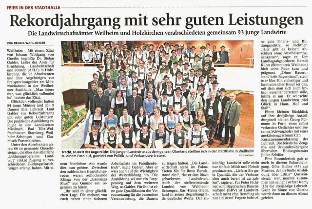 Weilheimer Tagblatt 5.08.2016