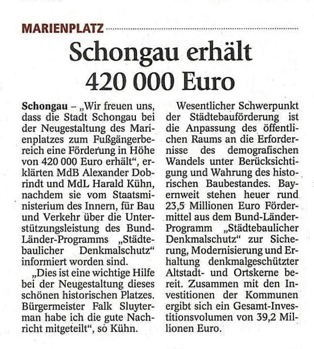 Schongauer Tagblatt 2.06.2015