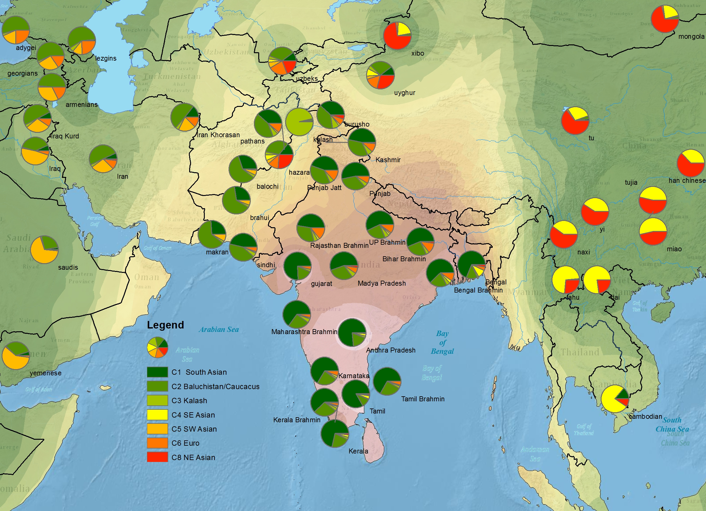 Harappa World Map.Harappa Maps Harappa Ancestry Project
