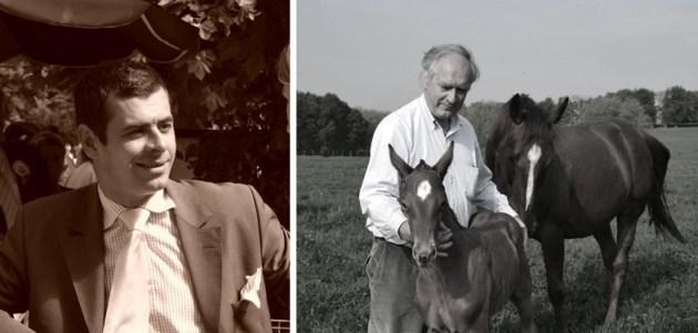 Gilles avec un foal de quelques jours et Thomas aux courses à Deauville