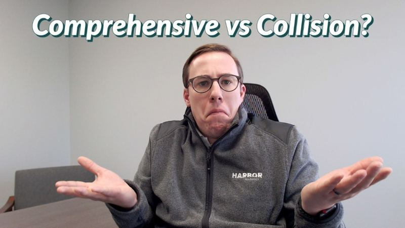 What is the difference between comprehensive and collision coverage on auto insurance?