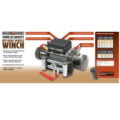 Badlands Winch Wiring Diagram Ford Charging System 12000 Best Library 2000 Lb Capstan Hoist Lift Winches Hoistsdirect Com