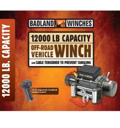 reviews badland 12 000 lb winch reviews by offroaders [ 1200 x 1200 Pixel ]