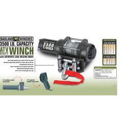 atv utility electric winch with automatic load holding brake [ 1200 x 1200 Pixel ]