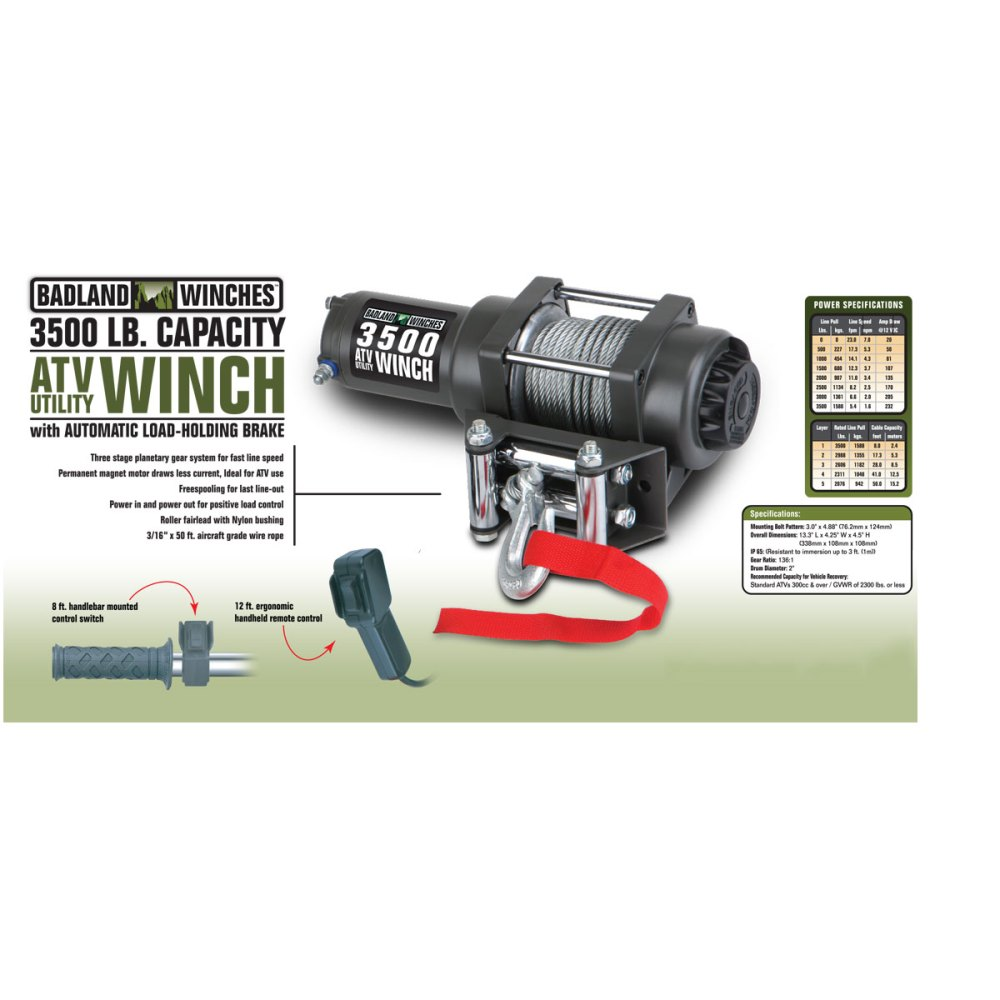 medium resolution of atv utility electric winch with automatic load holding brake