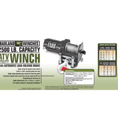 2500 lbs atv utility electric winch with wireless remote control badlands 9000 lb winch 2500 lb badland winch wiring diagram [ 1200 x 1200 Pixel ]