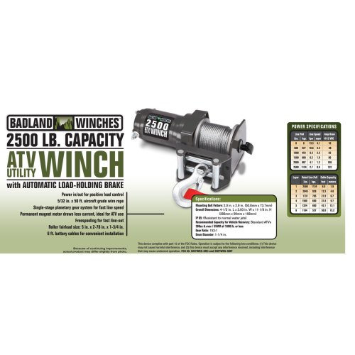 small resolution of 2500 lbs atv utility electric winch with wireless remote control badlands 9000 lb winch 2500 lb badland winch wiring diagram
