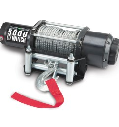 5000 lbs atv utility electric winch with automatic load holding brake [ 1200 x 1200 Pixel ]