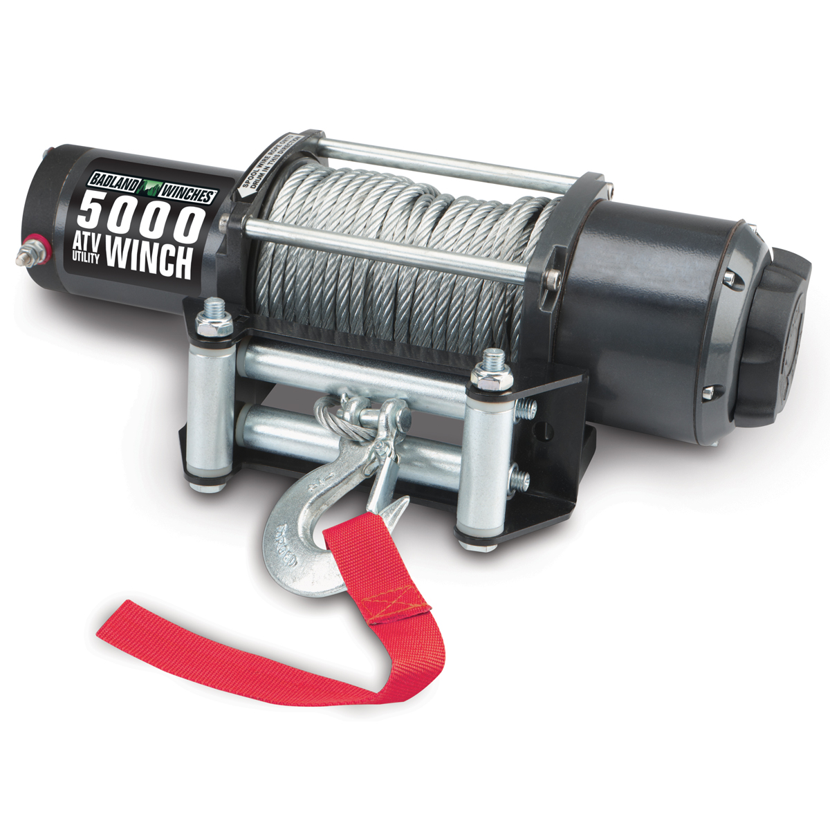 hight resolution of 5000 lbs atv utility electric winch with automatic load holding brake