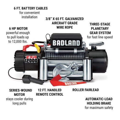small resolution of off road vehicle electric winch with automatic load holding brake