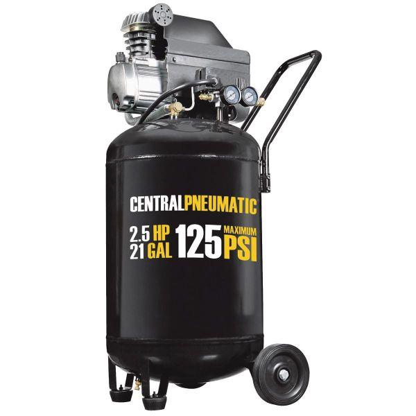 Gal. 2-1 2 Hp 125 Psi Cast Iron Vertical Air Compressor