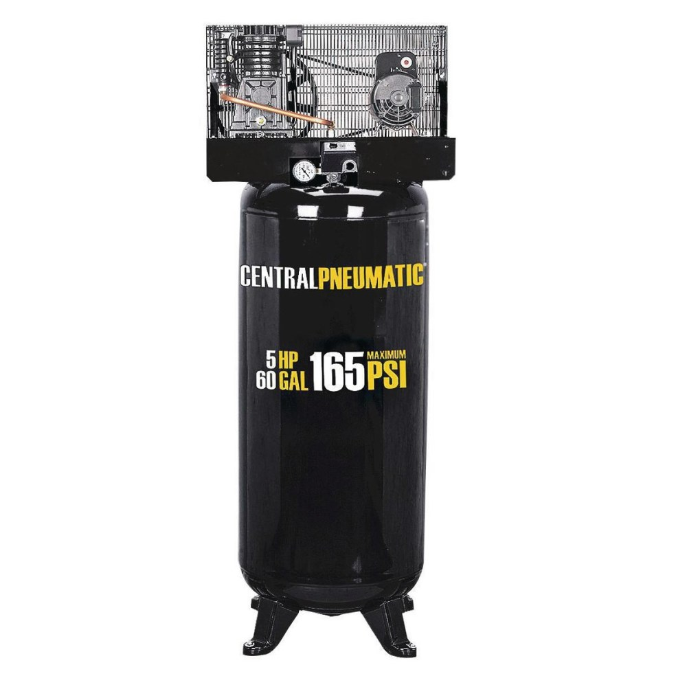 medium resolution of 60 gallon air compressor 2 stage 5 hp 165 psi