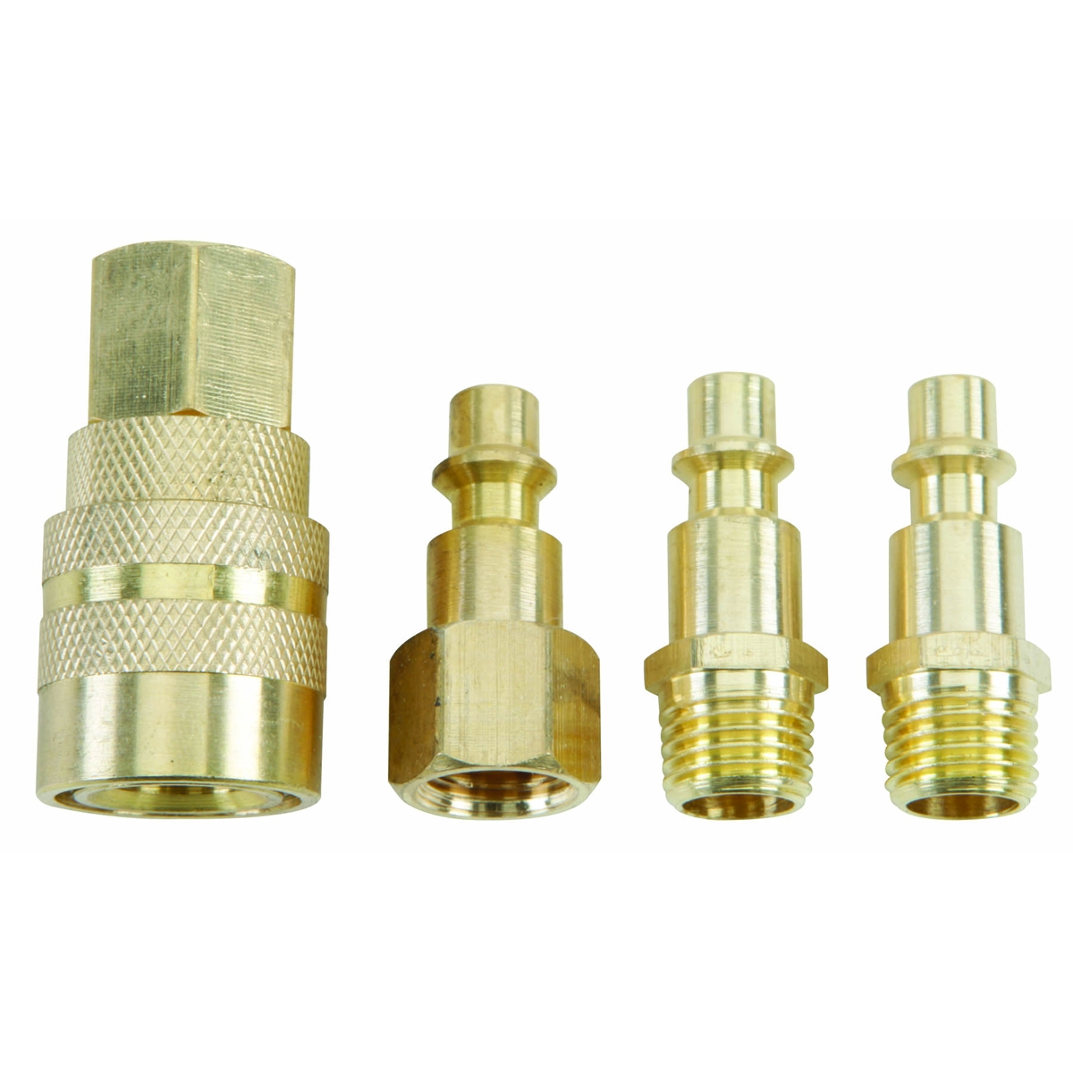 Brass Industrial Quick Coupler Set 4 Pc