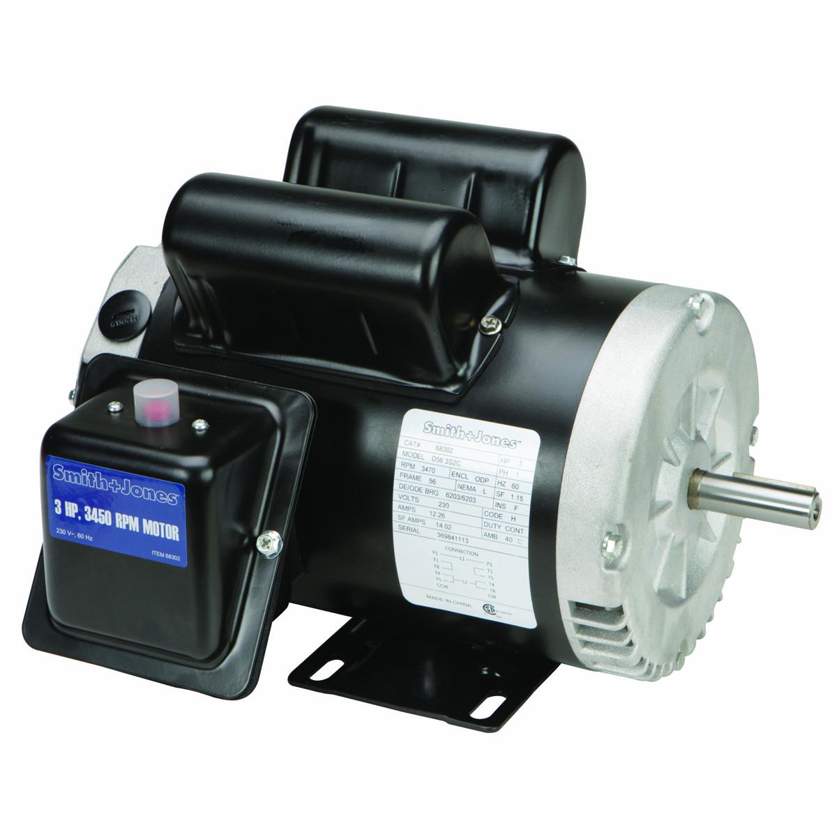 110 Volt A C Compressor Wiring Diagram 3 Hp Compressor Duty Motor