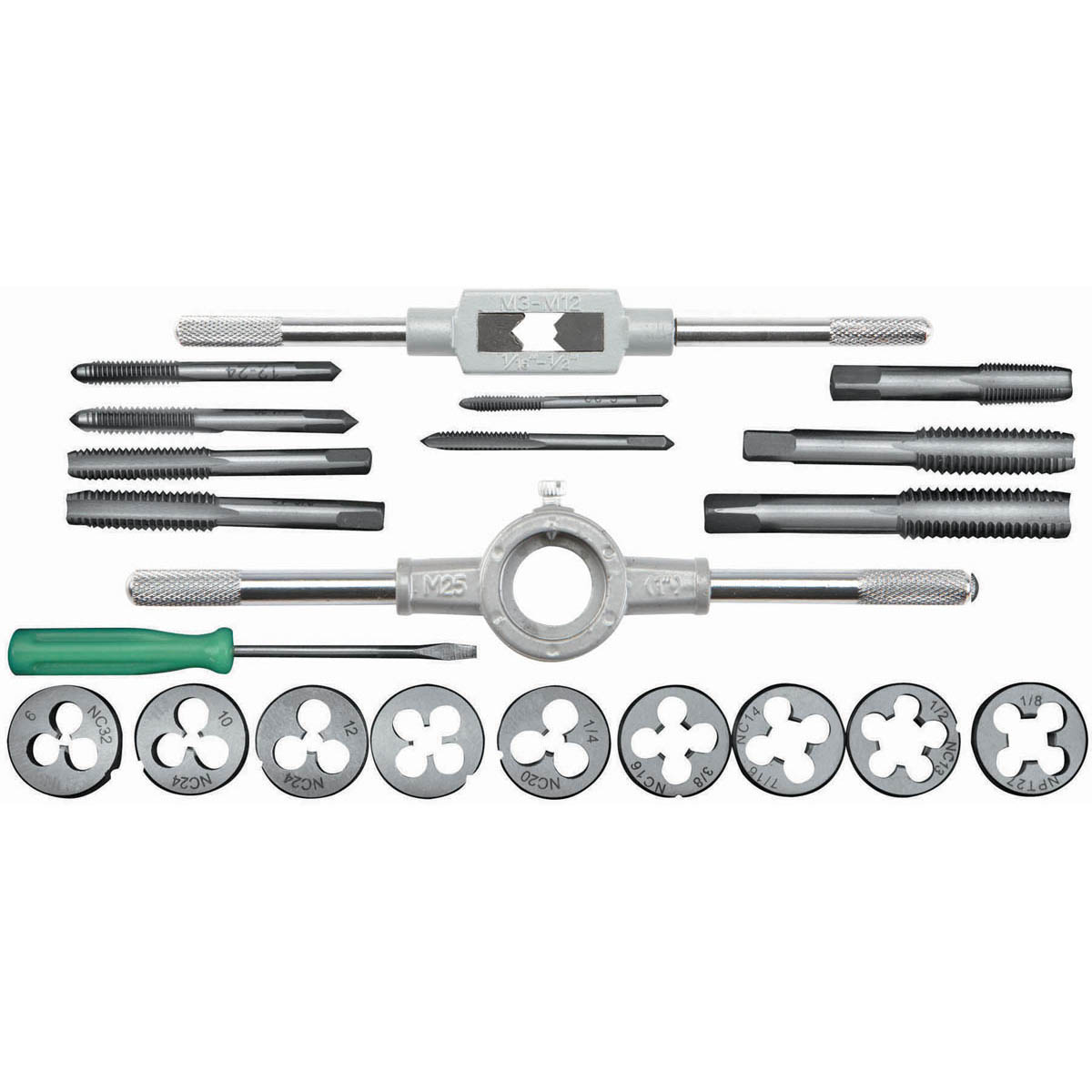 21 Pc Carbon Steel SAE Tap and Die Set