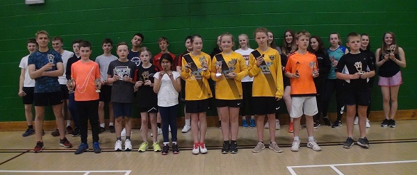 Harborough LC Junior Badminton Club - Trophy Winners 2017-18