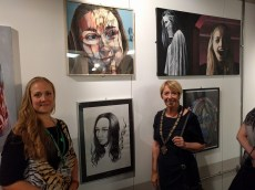 Vice Chairman of Harborough District Council at Illumination exhibition