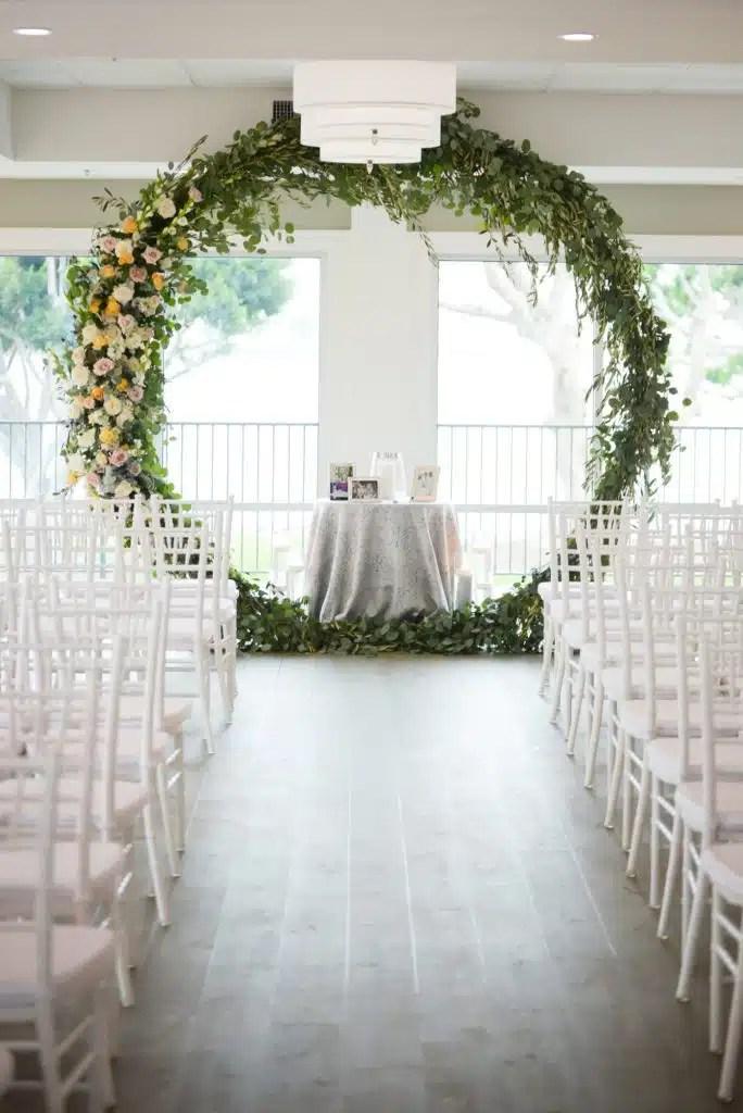 indoor wedding ceremony decorations