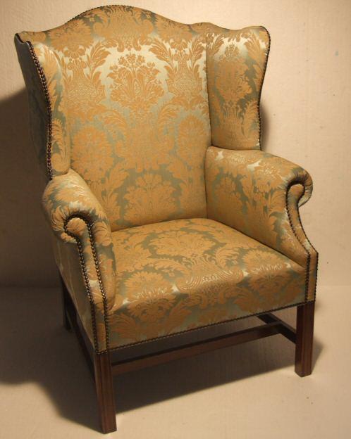Edwardian wing armchair in the georgian style