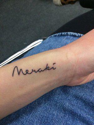 Tatuajes Meraki - palabra griega meraki- minimalistas_ diseño para hombre o mujer y su significado - Diseño