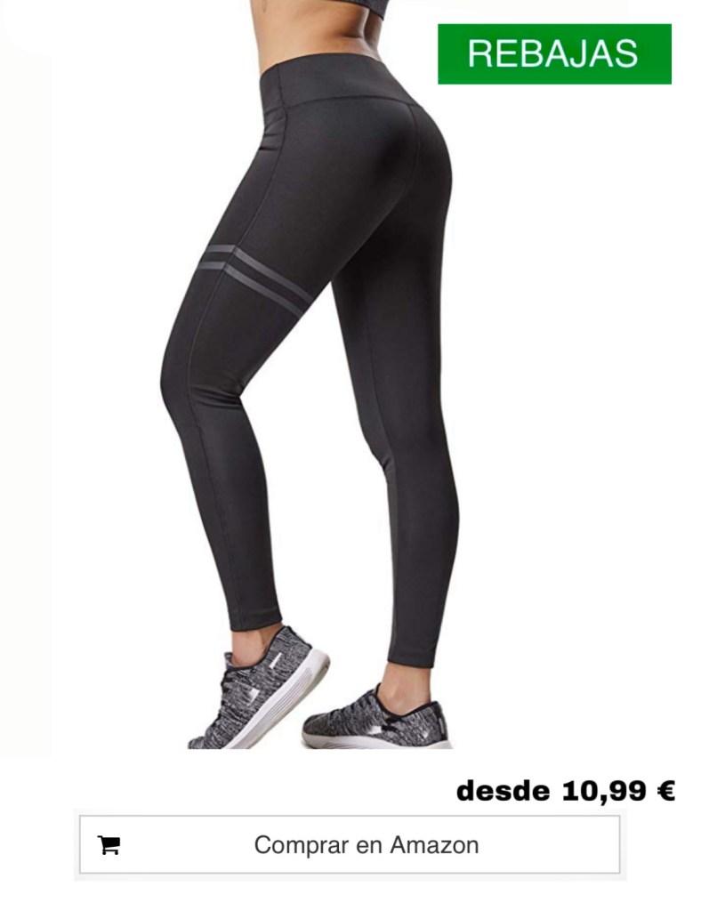 Pantalones Deportivos Leggings Mujer Yoga de Alta Cintura Elásticos y Transpirables para Running Fitness Yoga con Gran Elásticos