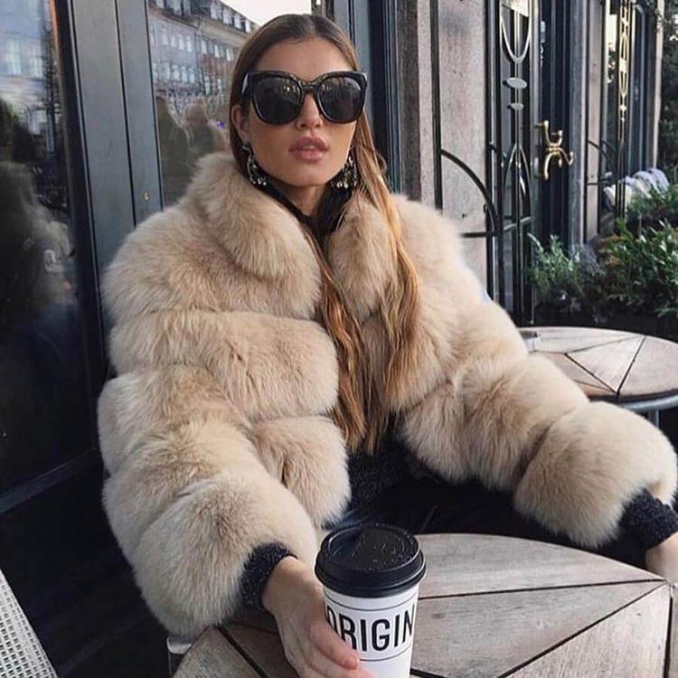 abrigo de piel para invierno - outfit invierno 2020