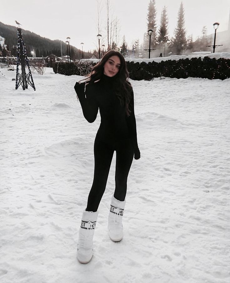 black and white para la nieve - outfit invierno 2020