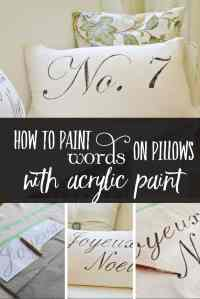 Diy Pillows With Words