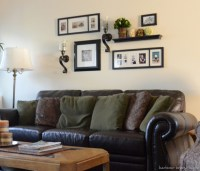 Mirror Above Couch. Small Living Room With Sliding Glass ...