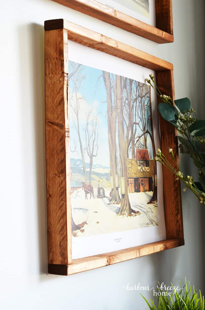 easy diy picture frame for art or posters