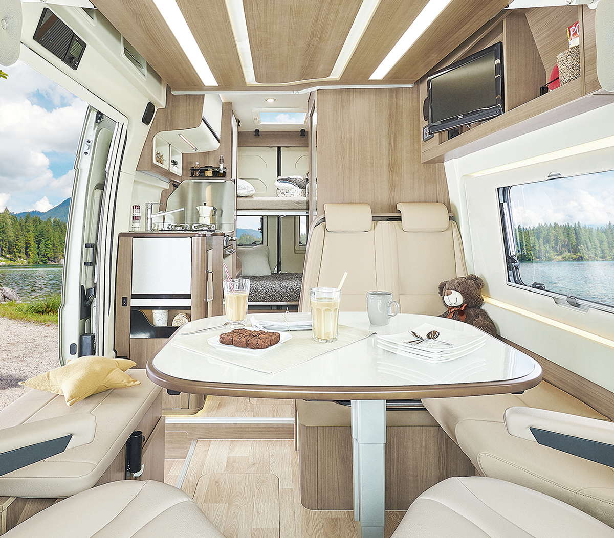 NEW 2021 Dreamer Family Van Select Motorhome by Rapido, Rear Bunk Beds & Jack Assisted Drop Down ...