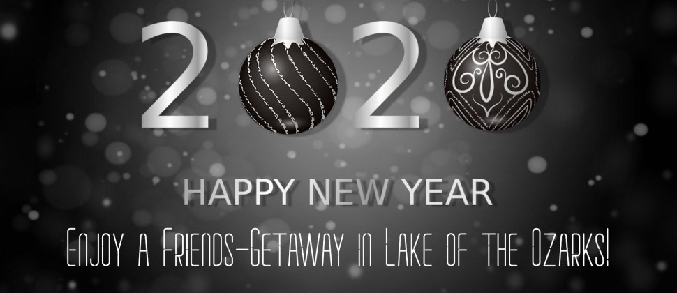 Sparkly grey and white background with numbers 2020 and text Happy New Year in silver