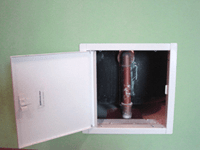 Shower valve access panel  Sweet puff glass pipe