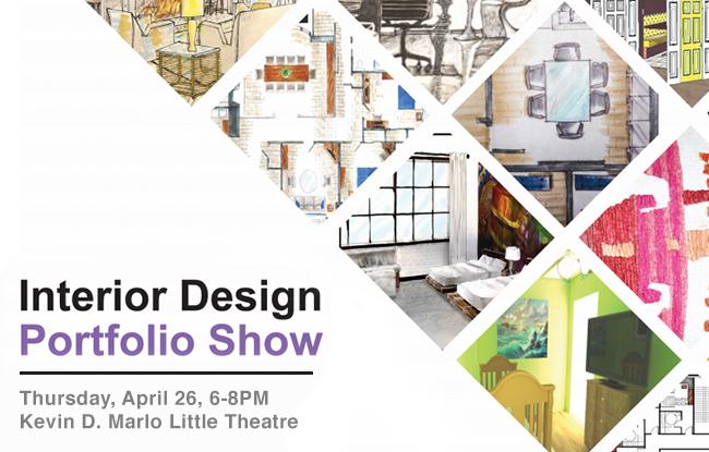 Harcum College Interior Design Portfolio Show
