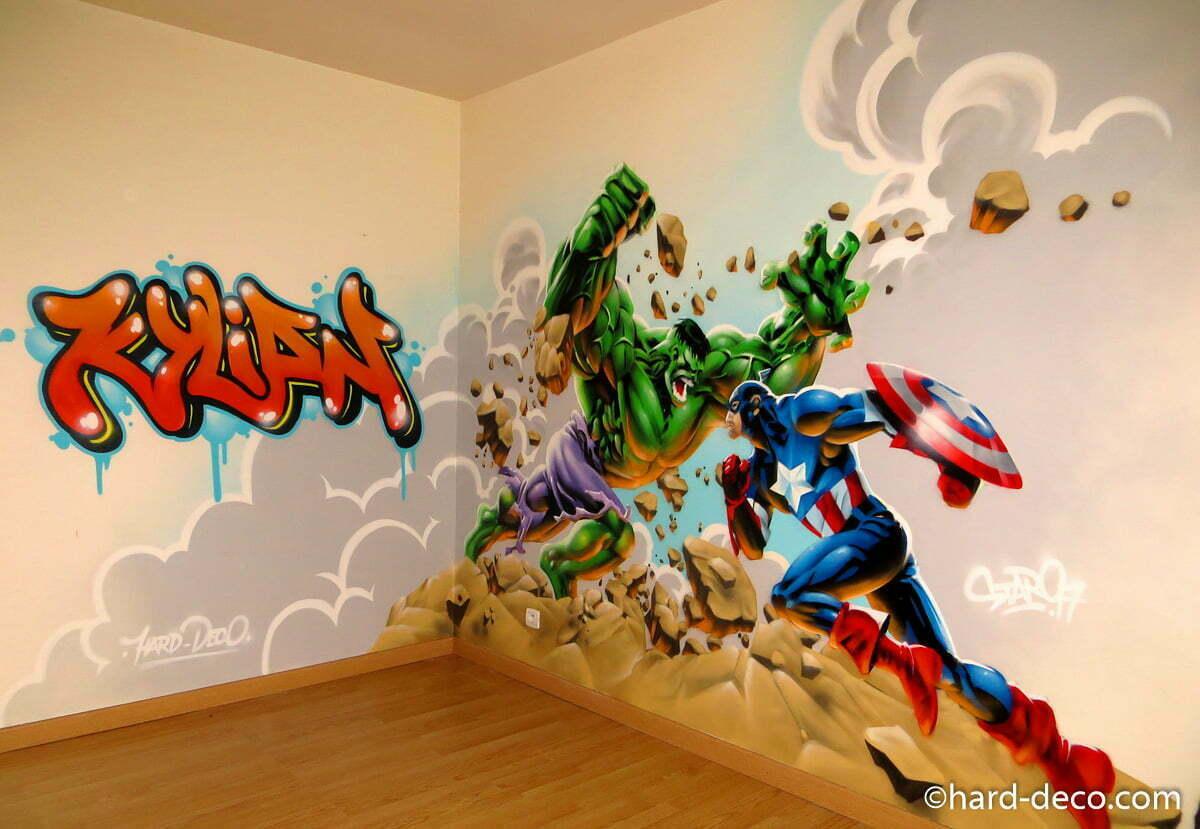Fresque Murale Chambre Fille fresque murale chambre enfant fille tour champignons couleurs