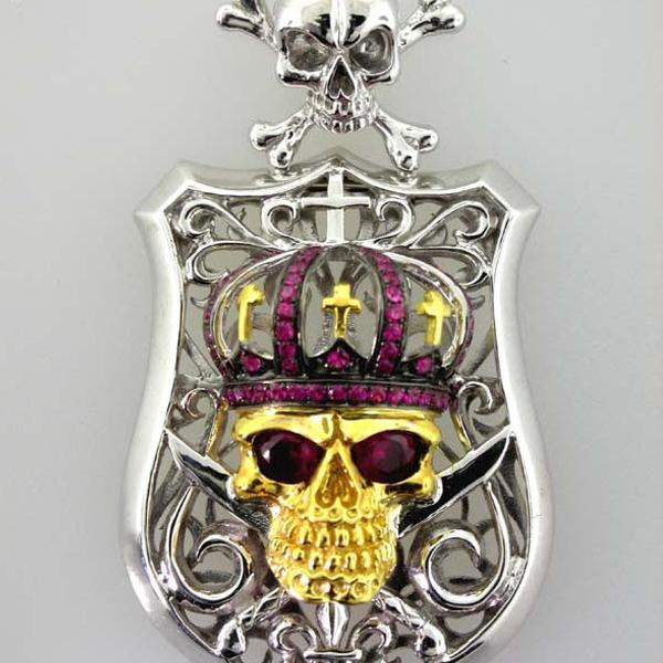 Skull and Shield Pendant