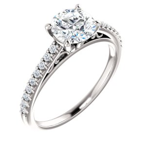 Round Cut Engagement Ring