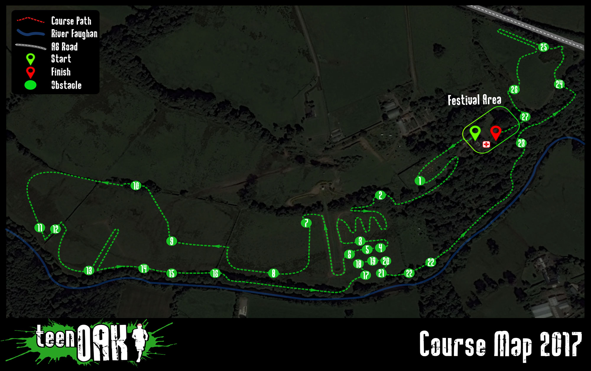 Teen OAK course map